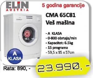 Mašina za veš CMA 65C81