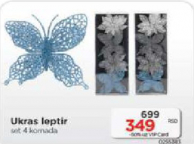 Ukras leptir set