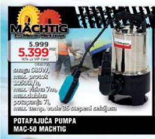 Potapajuća Pumpa Mac-50