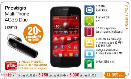 Mobilni telefon MultiPhone 4055 Duo