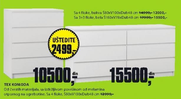 Komoda Tex 80x100x48