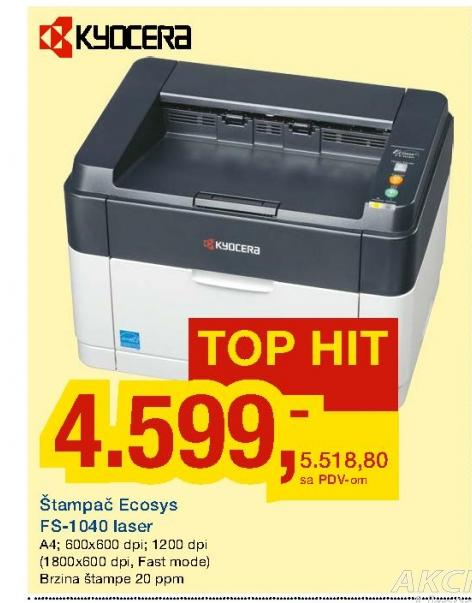 Štampač Ecosys FS-1040 laser