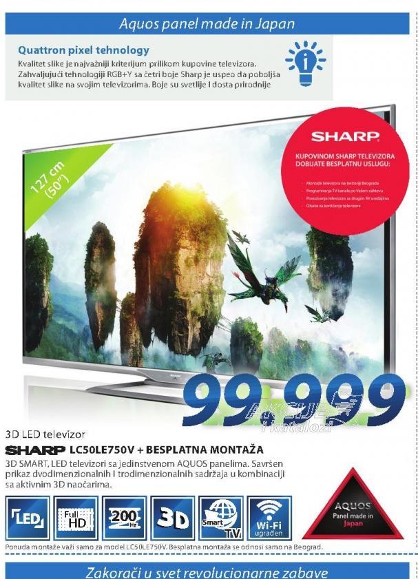 Televizor LC-50LE750V