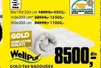 Naddušek Gold T65, 90x190/200cm
