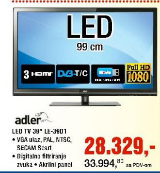Televizor LED Le-39D1