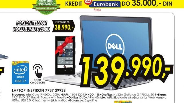 Laptop Inspiron 7000 7737 39938