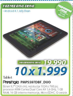 Tablet PMP5597DBF_DUO