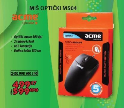 Miš  optički MS04
