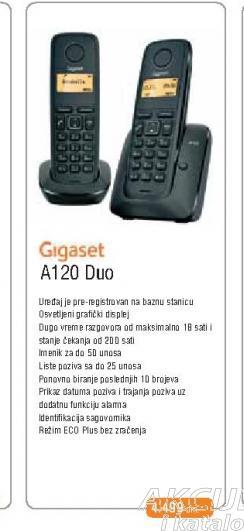 Fiksni Telefon A120 Duo