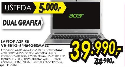 Laptop Aspire V5-551G-64454G50MASS