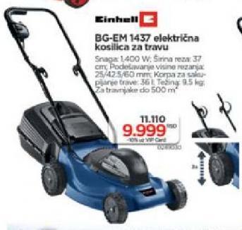 Električna Kosilica Za Travu BG-EM 1437