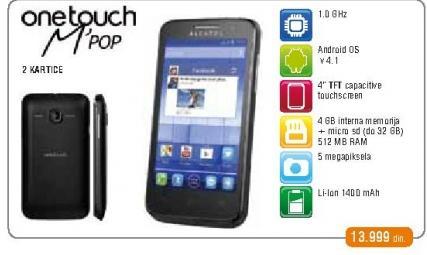 Mobilni telefon One Touch M Pop