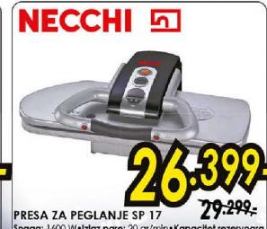 Presa za peglanje NECCHI SP17