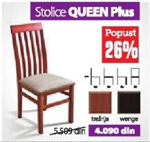 Trpezarijska stolica QUEEN Plus