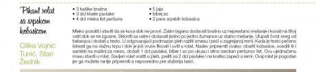 Recept - Pikant rolat sa Srpskom kobasicom
