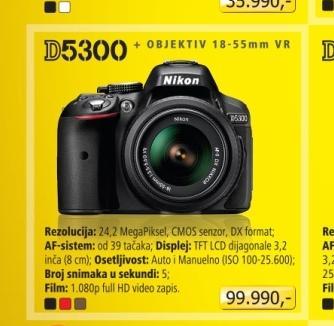Fotoaparat digitalni D5300