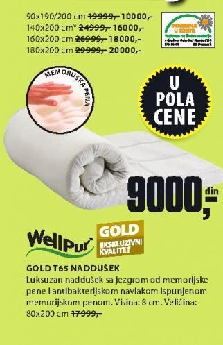 Naddušek Gold T65 80x200