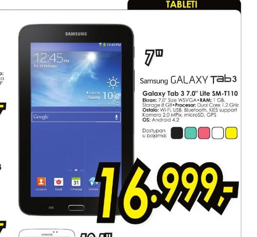 Tablet Galaxy Tab 3 Lite SM-T110