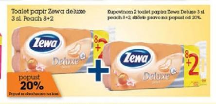 Popust 20% kupovinom 2 pakovanja Zewa deluxe 8+2