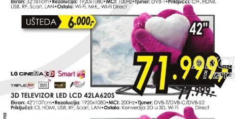 Televizor LED 42LA620S