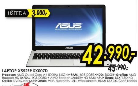 Laptop X552ep Sx007d