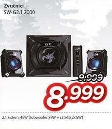 Zvučnici 2.1 Sw-G2.1 2000