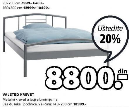 Krevet Valsted 90x200cm