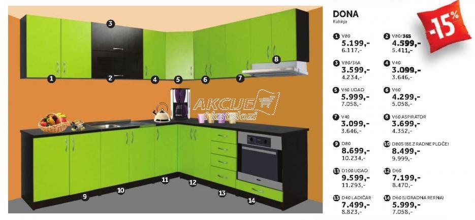 Kuhinjski element V60 Dona
