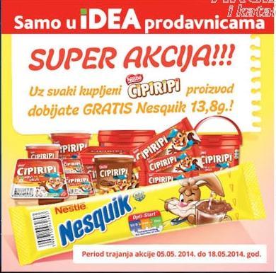 Uz kupljeni Cipiripi GRATIS Nesquik 13.8gr!