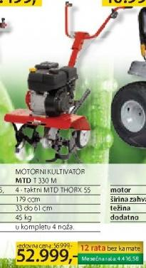 Motorni kultivator MTD T330M