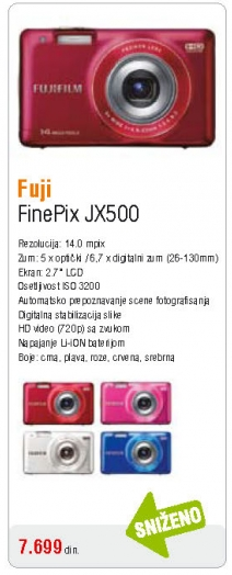 Fotoaparat FInepix JX500