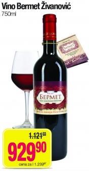 Crno vino Bermet Živanović