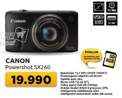 Digitalni fotoaparat powershot Sx260 + poklon SD8GB