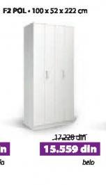 Garderober F2 Pol belo