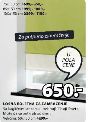 Roletna75x150 cm