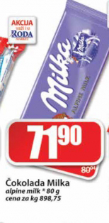 Čokolada alpsko mleko