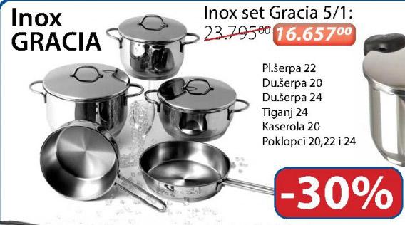 Inox set Gracia 5/1
