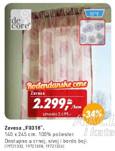 Zavesa F0318, DeCore