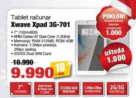 Tablet Xpad 3g-701