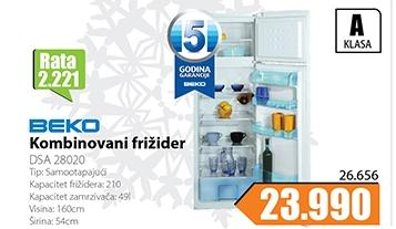 Kombinovani frižider  BEKO DSA 28020