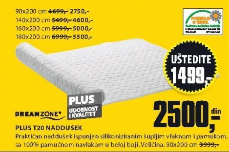 Naddušek Plus T20 140x200