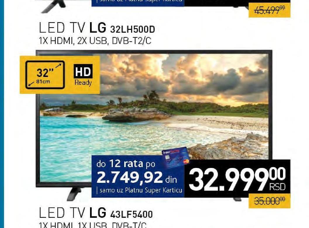 Televizor 32LH500D