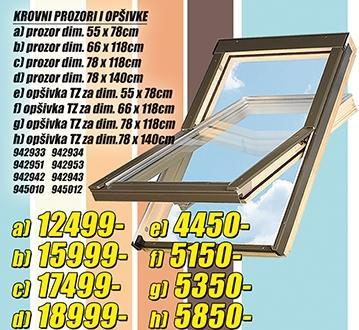 Krovni prozor 78x140cm