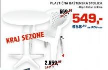 Plastična baštenska stolica