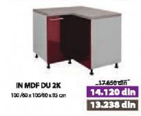 Kuhinjski element In Mdf Du 2k Bordo
