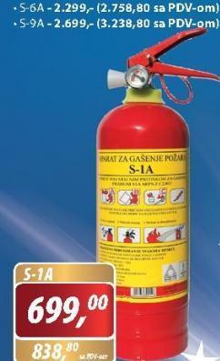 Aparat za gašenje požara sa prahom
