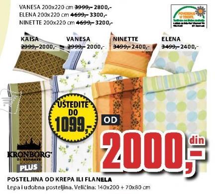 Posteljina Ninette 200x220cm