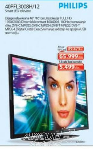 Televizor LED LCD 40PFL3008H/12