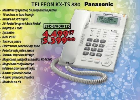 Bežični telefon  KX-TS 880