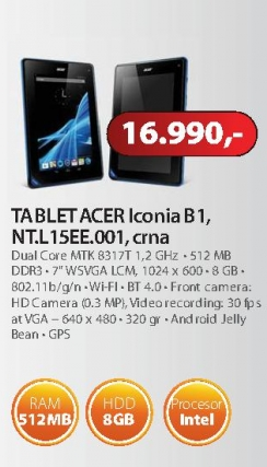 Tablet Iconia Tab B1